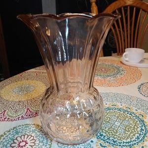 Vintage Anchor Hocking Royal Pink Glass Vase